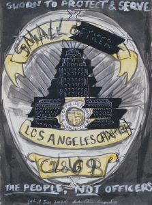 "June 14 2020 - Small Dick Club [CENSORED] |  Brush & Ink, Watercolor, Deleter White 2, Archival Tape, on Stonehenge |  11"" x 15"" |  2020"